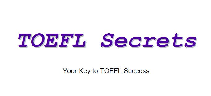 TOEFL Secrets Your Key to TOEFL Success)
